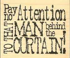 Wizard Of Oz Quote Wood Mounted Rubber Stamp IMPRESSION OBSESSION NEW D3952
