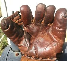 Joe Beggs VintageSplit Finger Baseball Glove  New York Yankees 1940 Champs Reds