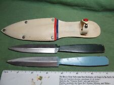 Pair of Japan 10112 Throwing Knives w/Sheath - Japanese