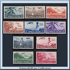 Colonie 1916 Somalia Posta Aerea n. 17/26 Nuovi Integri **