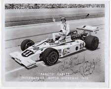 "1975 Vintage Signed Photo w/ Indy 500 Rubberstamp: ""Pancho"" Carter"