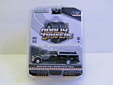 1/64 Dcp/Greenlight black/silver Ram 3500 crew cab service truck w/crane new.