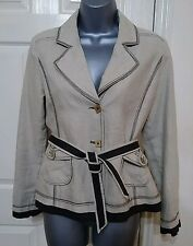 BLAZER JACKET 6 34 XS LINEN WORK OFFICE OCCASION KENAR CASUAL QUIRKY LADIES
