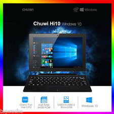 "10.1"" Tablette Tactile PC Windows10 Intel QuadCore 4Go/64Go HDMI Bluetooth WIFI"