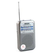Nueva DEGEN Radio AM FM Portátil de bolsillo Pocket Radio  Receptor Emisora
