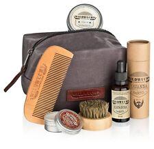 Wildwuchs Bartpflege - Kulturbeutel Geschenkset Bartpflegeset Bartset Bartöl