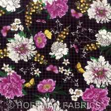Hoffman Bohemia & Modern Scrapbook L3363 4 Black by Fringe Studio BTY Cotton Fab