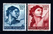 """ITALIA REP. - 1961 - Serie c.d. """"Michelangiolesca"""" - 500 e 1.000 L. Adamo ed Eva"""