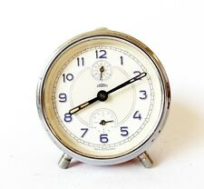 1960s Vintage Alarm clock PRIM Made in Czechoslovakia Red Table Desk Watch decor