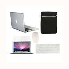 """5 in1 Crystal CLEAR Case for Macbook PRO 15"""" Retina +Key Cover +LCD +Bag +Mouse"""