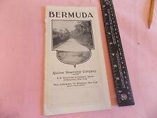 RARE 1914 Bermuda BWI Quebec Steamship Co. Ocean Liner 32 page brochure VINTAGE