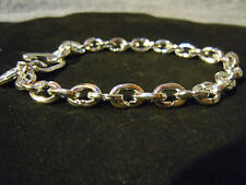 """SILVER BRACELET SOLID NEW 9"""" PURE .999 MENS BLING SERIES BY ANARCHY JEWELRY #PR"""