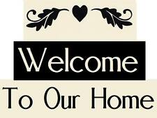 Stencil Flourish Welcome To Our Home Free Shipping