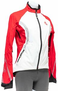 Castelli Cycling Wind Rain Jacket Women SMALL White Red Road Bike Waterproof MTB