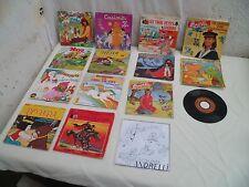 15 disques 45 tours livre disque et chansons jeunesse années 1970/80