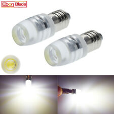 2Pcs Cold White 24V DC E10 1447 Style Screw Led Bulb Light for DIY LIONEL COB 2W