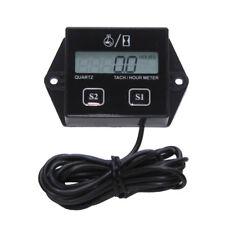 Black Motorcycle LCD Race Digital RPM Tach Hour Meter Tachometer Gauge Spark