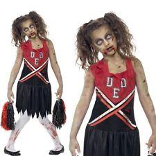 Smiffys Déguisement enfant Pom-pom Girl Zombie Robe avec taches de sang et po
