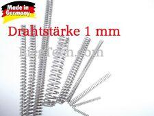 Druckfeder,Feder, Federstahl DIN 10270-3 Nichtrostender Edelstahldraht (S) 1 mm