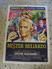 R4 MANIFESTO ORIGINALE 2F MISTER MILIARDO TERENCE HILL PERRINE GLEASON