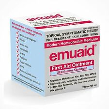Emuaid MAX Homeopathic First Aid Ointment for Irritated Skin 2oz New