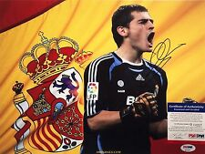 Iker Casillas Signed Real Madrid 11x14 Soccer Photo PSA Q14227