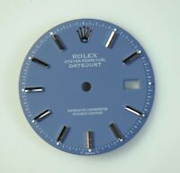 REFINISHED ROLEX DATEJUST MATTE BLUE STICK DIAL FOR 36MM DATEJUST 1601