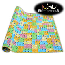 Fitted carpet for kids LEGO Width 200, 400 cm extra long