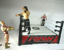WWE RAW Wrestling Ring And Figures One With Loose Arm