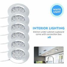 6x 12V Interior LED Spot Lights For T4 T5 Camper Van Caravan Motorhome Light UK