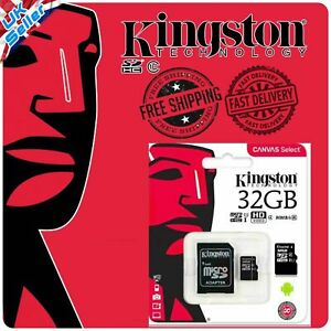 Pack of 3 Kingston Micro SD SDHC Memory Card Class 4 32GB with SD card Adapter