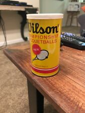 Vintage Sealed 1970's metal can Wilson Championship Racquetballs 2 Balls