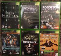 Original XBox Games Lot Of 6 (Unreal Championship 2, Robotech, King Kong, More)