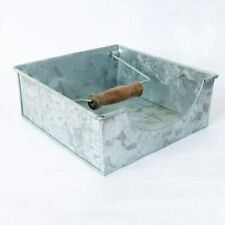 Square Galvanized Facial Tissue Paper Box Cover Holder for Bathroom Vanity Home
