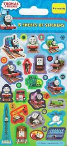 6 Sheets Of Thomas The Tank Stickers Boys Birthday Party Loot Bag Fillers