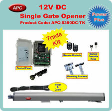 12V Single Swing Gate Opener and Closer Trade Kit with built in limit restrictor