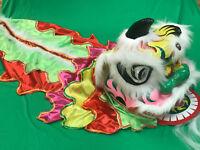 Chinese Folk Wool Lion Dance Mascot Costume Children Kids Cosplay Dress Handmade