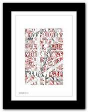 More details for van halen - panama ❤ typography quote poster art limited edition print #92