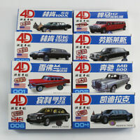 8pcs 1/87 4D New Stretch Limousines Car Model Kit Chevrolet Hummer Varieties Toy