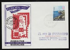 Gibraltar 1970 FDC Europa Point 2/- Value To A&B Stamps Chiswick, London