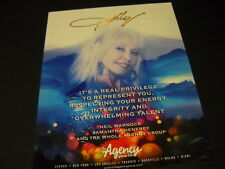 DOLLY PARTON Energy - Integrity - Talent 2014 PROMO POSTER AD mint condition