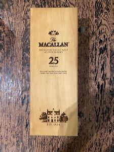 EMPTY The Macallan 25 Year Old Wooden Box