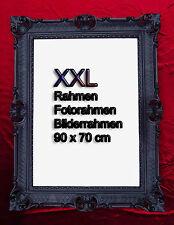 Marco de fotos 90x70 Negro Antiguo Barroco Rococó Reproducción decoración pared
