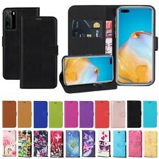 Luxury PU Leather Wallet Flip Case Cover For Huawei P30 P40 Lite Y6 P Smart 2019