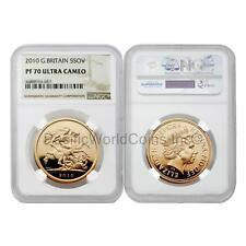 Great Britain 2010 5 Sovereign Gold NGC PF70 Ultra Cameo