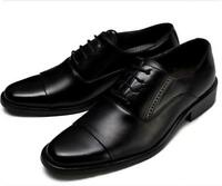Men Shoes Oxford Formal Casual Square Toe Lace Up Leather Gentleman Retro Zsell