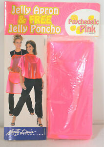 Psychedelic Pink Jelly Apron with FREE Jelly Pancho (Neon Pink)