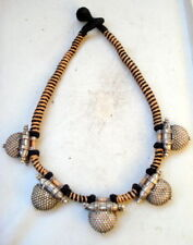 choker pendant tribal bellydance jewelry vintage antique old silver necklace