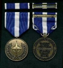 NATO Kosovo Service Award medal with ribbon bar