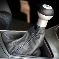 Black Leather Stitch Manual/Auto Gear Shift Knob Shifter Boot Cover Accessories~